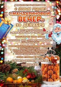 Новогодняя концертная программа «Мандариновый вечер»