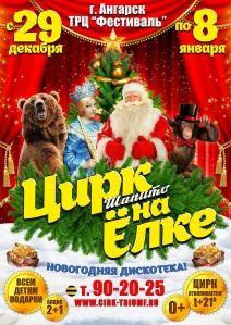 Новогоднее шоу «Цирк на ёлке» в Ангарске