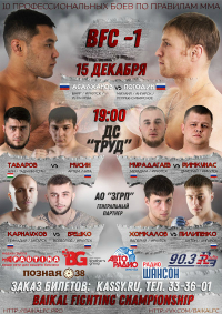 Турнир MMA «Baikal Fighting Championship»