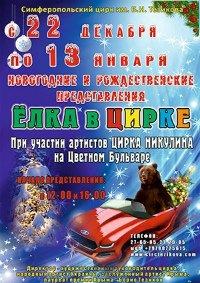 Цирковое шоу «Ёлка в цирке»
