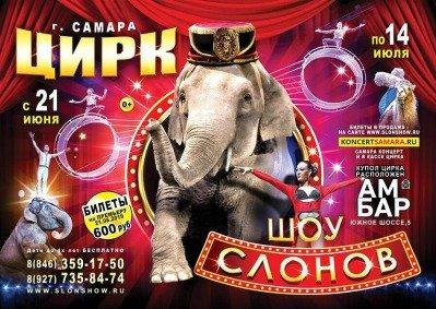 Цирковое шоу «Шоу слонов» Самара