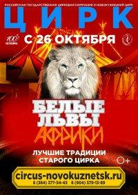 Цирковое шоу «Белые львы Африки» Новокузнецк, Новокузнецкий государственный цирк (Новокузнецк)