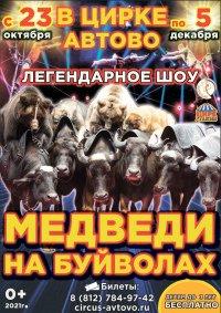 Цирковое шоу «Медведи на буйволах» афиша мероприятия