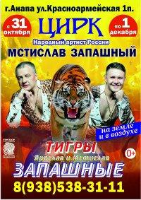Цирковое шоу «Тигры на земле и в воздухе»