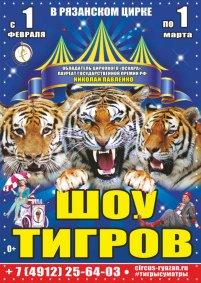 Цирковое шоу «Шоу тигров» Рязанский государственный цирк (Рязань), Рязань